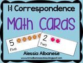 Math Cards - 1:1 Correspondence FREEBIE