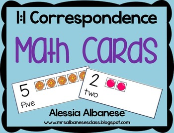 Math Cards - 1:1 Correspondence FREEBIE