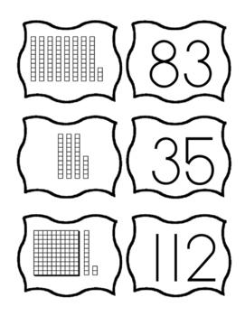 Math Cards - Base 10 Blocks, Standard Form, Expanded Form,