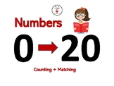 Math Cards: Counting Dots + Numbers 0-20 + Number Words