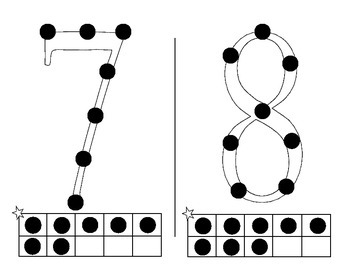 Math Cards with dots