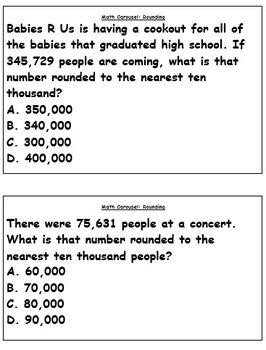 Math Carousel: Rounding