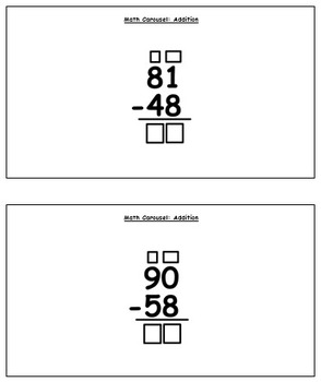 Math Carousel: Subtraction