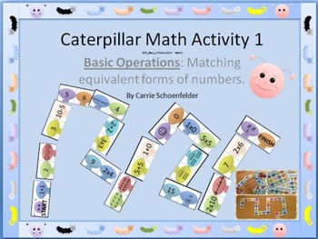 Math Caterpillar Equivalent Number Matching Game