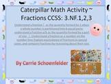 Math Caterpillar Fractions Matching Game CCSS3.NF.1.2.3