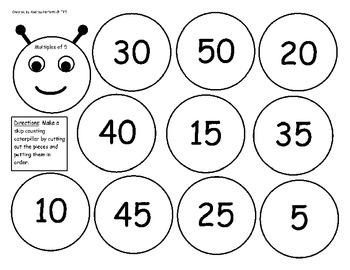 Math- Caterpillar Skip Counting
