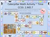 Math Caterpillar Time Matching Game CCSS 2.MD.7