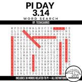 Pi Day Activity - Pi Vocabulary Word Search