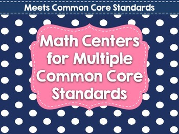 Common Core Math Center Review!