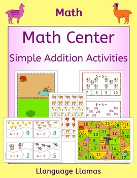 Math Centers - Simple Farm Addition Activities and Games