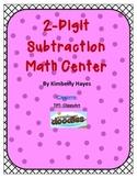 Math Center: 2 Digit Subtraction Center (Valentine Theme)