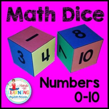 Number Dice Math Center