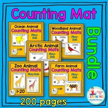Animal Play-Doh Counting Mat Math Center BUNDLE