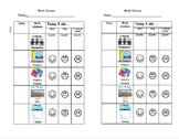 Math Center - Accountability Sheet (2 per page)