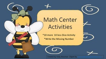 Math Center Activities- Find the Missing Number