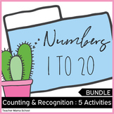 Math Center Activities - Numbers 1 to 20  ❤ BUNDLE ❤ #stockupsale