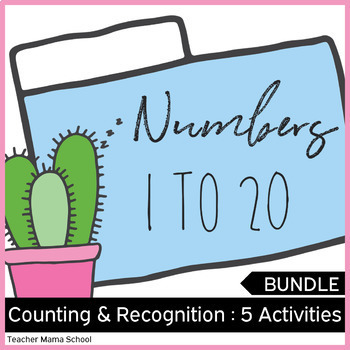 Numbers 1 to 20 Math Center Activities ❤ BUNDLE ❤