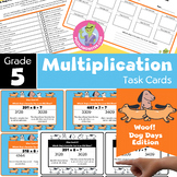 Math Centers: 5th Grade | Math Task Cards Grade 5 - Multiplication