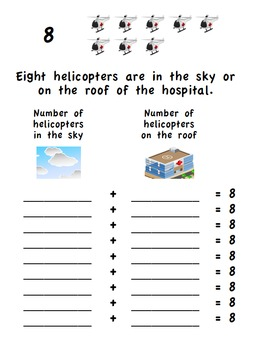 Math Center Activities for Decomposing Numbers: Transportation Theme