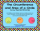 Math Center Activities for the Circumference and Area of a Circle
