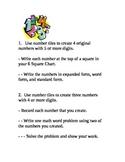 Math Task Cards w/ Number Tiles