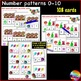 Printable Math Activities Counting Numbers 0-10 and 11-20 Missing Numbers BUNDLE