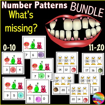 Math Center Activity Counting Numbers 0-10 and 11-20 Missi