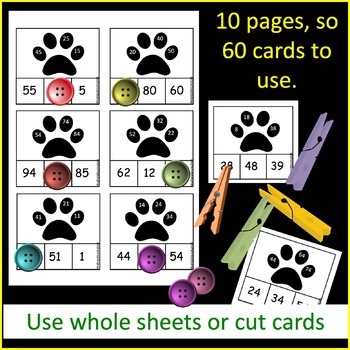 Printable Math Center Activity Counting by 10 Complete Missing Numbers Patterns