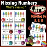 Printable Math Activity Counting and Completing Numbers Patterns