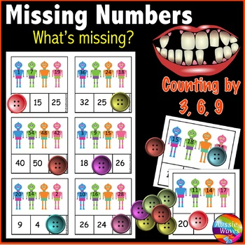 Math Center Activity Counting by 3 6 and 9 Complete Number