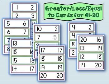 Math Center Activity (Greater/Less than #1-20)