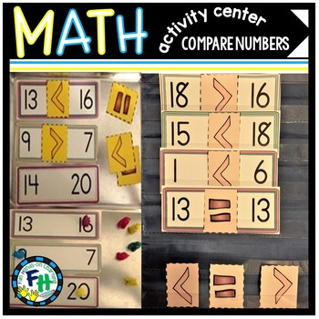 Math Activity Center (Comparing Numbers to 20)