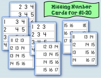 Math Activity Center {Missing Numbers 1-20}