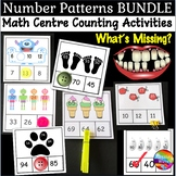Math Center Activity Number Patterns BUNDLE Counting Missi