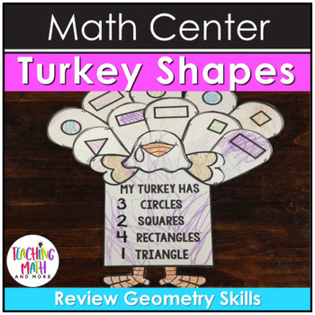 Math Center Activity Thanksgiving Turkeys with Numbers & Shapes