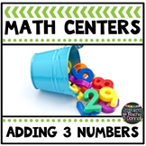 Math Center Adding Three Numbers