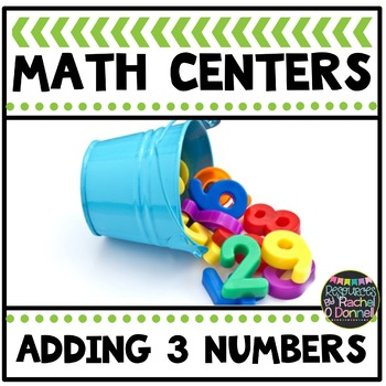 Math Center Adding Three Numbers