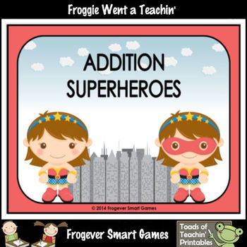 Math Center--Addition Superheroes (girl version)