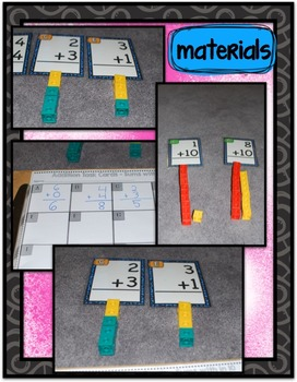 Math Center ~ Addition Task Cards