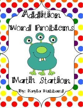 Math Center Addition Word Problems