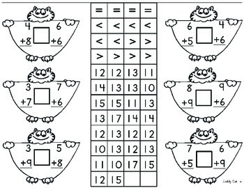 Math Center - Addition and Subtraction Activity up to 20 for up to 4 children.