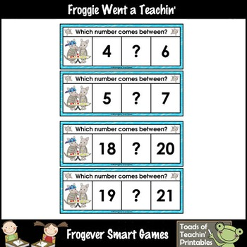 Math Center--Artie Loves Numbers What Comes Between? Ten Frames & Numbers