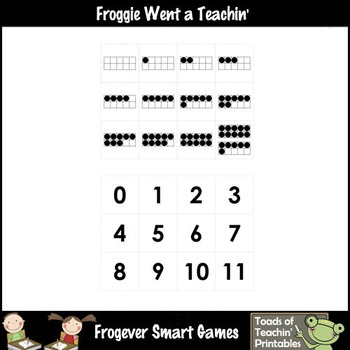 Math Center--Artie Loves Numbers What Comes Before? Ten Frames & Numbers