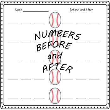 Math Center Baseball Theme