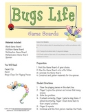 Math Center: Basic Facts Game Boards - Insect Theme