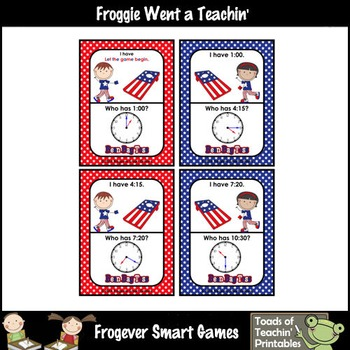 Time--USA Beanbag Toss I Have... Who Has? 5 Minute Intervals Set 2