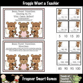 Valentine's Day--Beary Sweet Valentines Counting by Fives