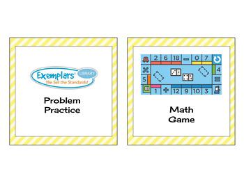 Math Center Board Pieces