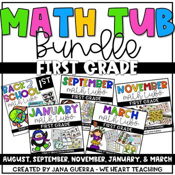 Math Center Bundle: FIRST GRADE