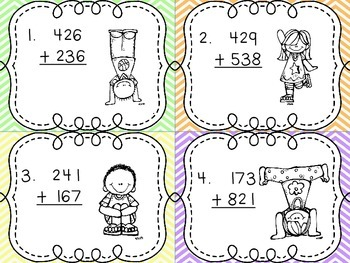 Math Center Bundle Pack: Addition/Subtraction W/Regrouping and Place Value